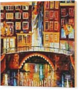 Amsterdam - Little Bridge Wood Print