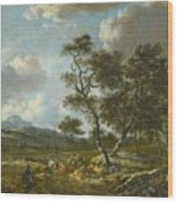 Amsterdam A Landscape With Cattle  Wood Print