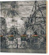 Amsterdam Bicycle Nostalgia Wood Print
