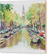 Amsterdam Canal 2 Wood Print