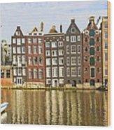 Amsterdam Canal Wood Print by Giancarlo Liguori