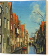 Amsterdam Canal Wood Print
