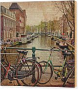 Amsterdam Canal Wood Print