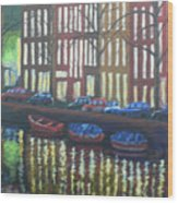 Amsterdam Evening Wood Print