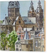 Amsterdam Holland Wood Print
