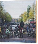 Amsterdam Parking Lot Wood Print