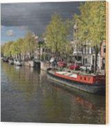 Amsterdam Prinsengracht Canal Wood Print
