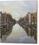 Amsterdam Reflected Wood Print