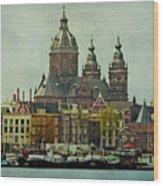 Amsterdam Skyline Wood Print