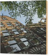 Amsterdam Spring - Fancy Brickwork Glow - Left Horizontal Wood Print
