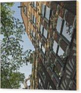 Amsterdam Spring - Fancy Brickwork Glow - Left Vertical Wood Print