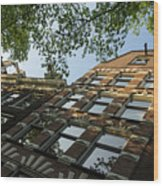 Amsterdam Spring - Fancy Brickwork Glow - Right Horizontal Wood Print