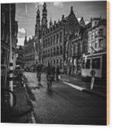 Amsterdam Street Wood Print
