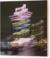 Amsterdam The Netherlands A'dam Tower Abstract At Night. Wood Print