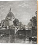 Amsterdam, View On The Singel. From The Wood Print