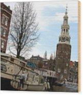 Amsterdam Waterviev Wood Print