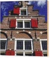 Amsterdam Windows Wood Print