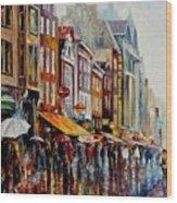 Amsterdam's Rain Wood Print