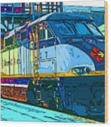 Amtrak Locomotive Study 2 Wood Print by Samuel Sheats