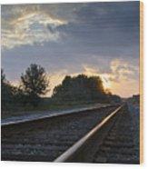 Amtrak Railroad System Wood Print by Carolyn Marshall