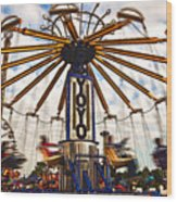 Amusement Park Wood Print