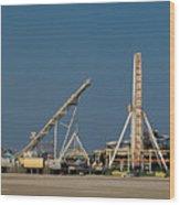 Amusement Pier And Waterpark Wood Print