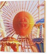 Amusement Rides Wood Print