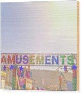 Amusements Wood Print