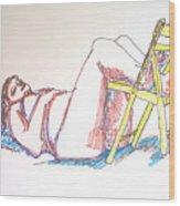 Bonnie And Chair Wood Print