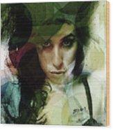 Amy Whirls  Wood Print