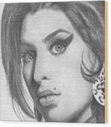 Amy Winehouse Wood Print