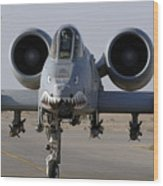 An A-10 Thunderbolt II Wood Print