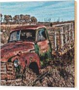 An Abandoned Truck Wood Print