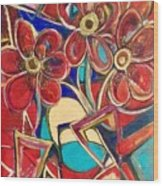 An Abstract Floral Wood Print