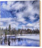 An Adirondack Winter Wood Print