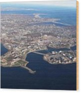 An Aerial View Of Naval Station Newport Wood Print