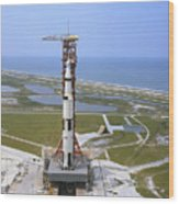 An Aerial View Of The Apollo 15 Wood Print