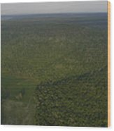 An Aerial View Shows The Cumberland Wood Print