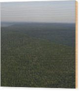 An Aerial View Shows The Forests Wood Print