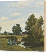 An Afternoon Along The Loing Near Saint-prive Wood Print