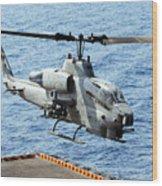 An Ah-1w Super Cobra Helicopter Wood Print