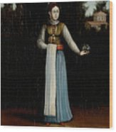 An Albanian Woman Wood Print