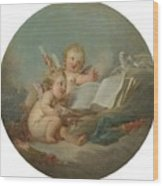 An Allegory Of Poetry Wood Print