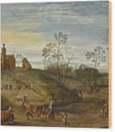 An Allegory Of Spring Wood Print