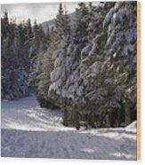 An Alpine Ski Trail On Wildcat Mountain Wood Print