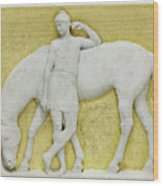 An Amazon Watering Her Horse, Rome Wood Print