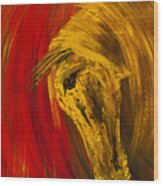 An Amber Soul Wood Print