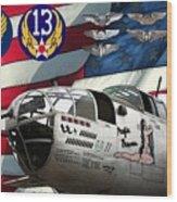 An American B-25c Pof Wood Print