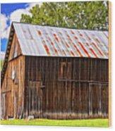 An American Barn 2 Painted Wood Print