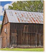 An American Barn 2 Wood Print
